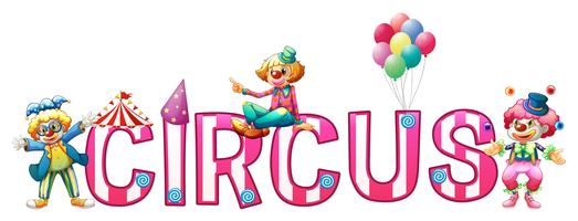 Design de fonte para circo de palavra vetor