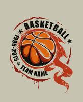 Arte de vetor de basquete