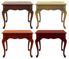 Quatro mesas de madeira vetor
