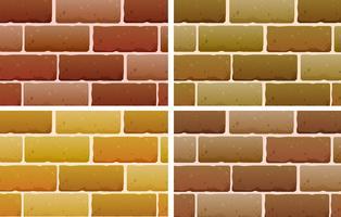 Projetos de tijolo vetor
