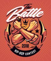 Design de cartaz de batalha de hip-hop vetor