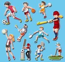 Pessoas fazendo diferentes tipos de esportes vetor
