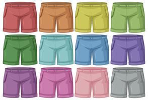Conjunto de calças diferentes vetor