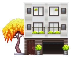 Uma casa moderna vetor