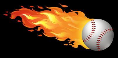 Beisebol em chamas vetor