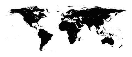 Mapa do mundo vetor