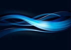 Fundo ondulado de linhas azuis vetor