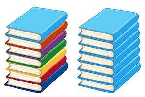 Duas pilhas de livros grossos vetor