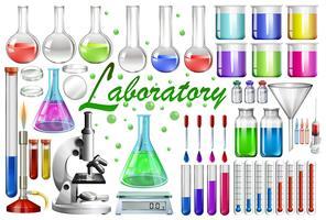 Ferramentas de laboratório e equipamentos vetor
