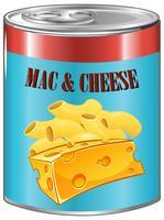 Mac e queijo em lata de alumínio vetor