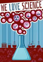 Nós amamos cartaz de ciência vetor