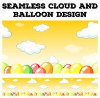 Projeto de nuvem e balão sem emenda vetor