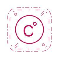 Ícone de vetor Celsius