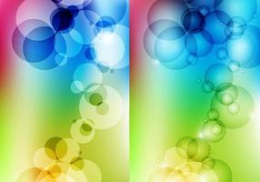 Pacote de vetor de papel de parede colorido de bolha