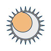 Ícone do vetor de eclipse