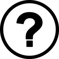 Ponto de interrogação, vetorial, ícone vetor