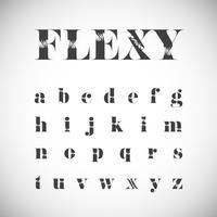 Conjunto de caracteres Flexy, ilustração vetorial vetor