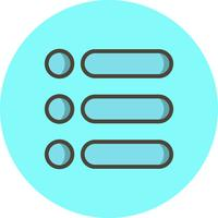 Ícone de lista de vetores