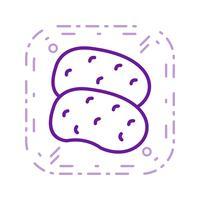 Ícone de batatas de vetor