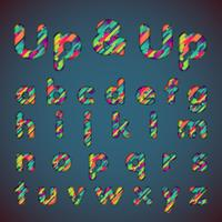 'Up & up' fonte colorida definida com sombras | Efeito 3D | Ilustração vetorial