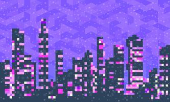 Cidade nevado com casas