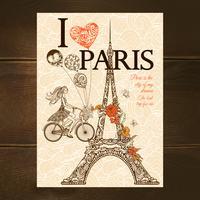 Cartaz de Paris do vintage