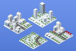 Área urbana da cidade vetor