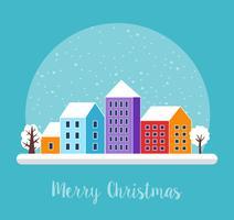 Natal urbano da vila decorado