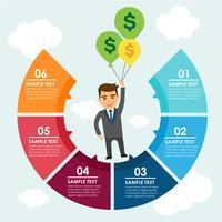Infográfico de empresário vetor