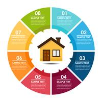 Casa e infográfico vetor