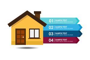Infográfico de casa vetor