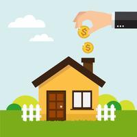 Economize dinheiro para casa vetor