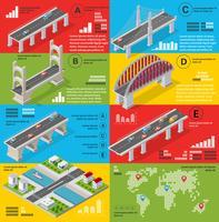 Infografia de pontes vetor