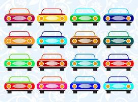 Táxi de carro de várias cores vetor