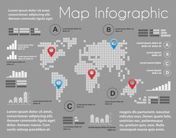 Infografia do esquema de mapa