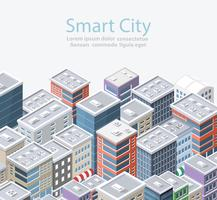 Cidade inteligente isométrica vetor