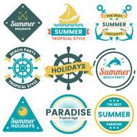 Logotipo de vetor retrô de verão para banner