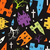 Padrão de Halloween de caveira