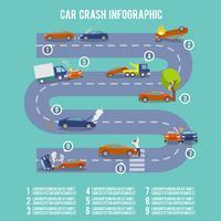 Infografia de acidente de carro vetor