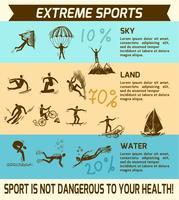 Infográfico de esportes radicais vetor