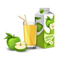 Conjunto de suco de maçã vetor