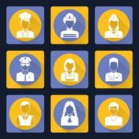 Conjunto de ícones de avatar