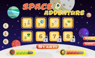 Interface do jogo Scifi