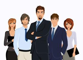 Grupo de pessoas de negócios vetor