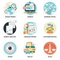 Conjunto de ícones de negócios para negócios, marketing vetor