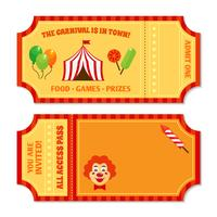 Modelo de ingressos de circo