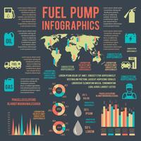 Auto serviço de gasolina infográficos
