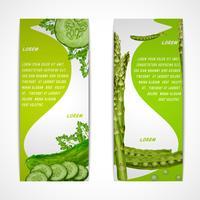 Banners verticais de legumes