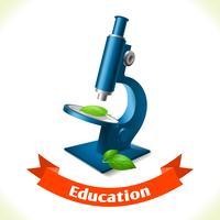 Microscópio de ícone de educação vetor
