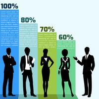 Pessoas negócio, infogrpahics vetor